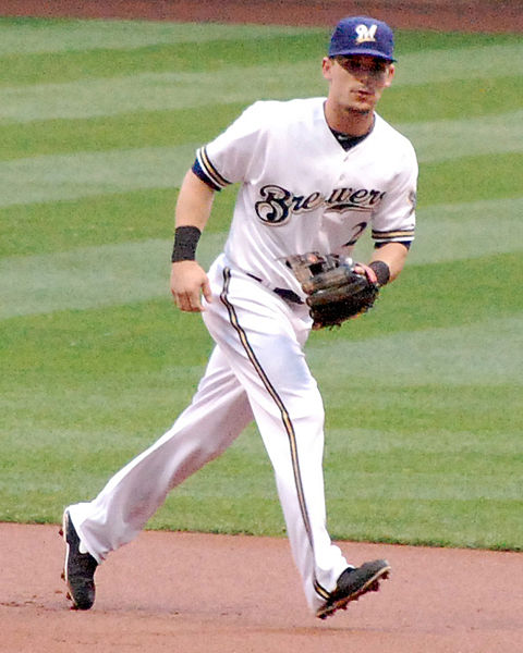 Scooter Gennett of the Milwaukee Brewers - Photo by Aloriggan