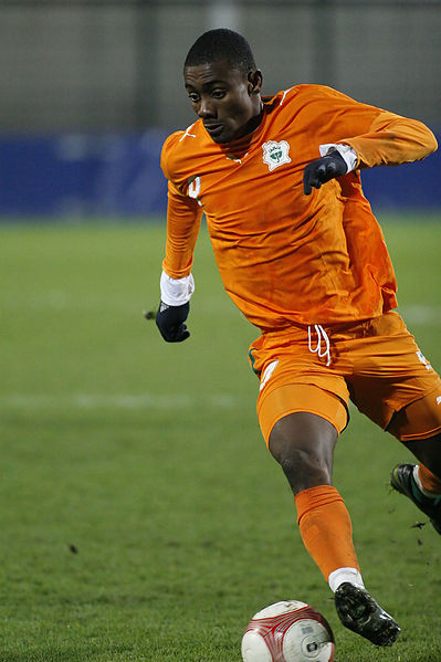 Salomon Kalou playing for Ivory Coast - Photo by Jean-Marc Liotier - CC-BY-SA-2.0