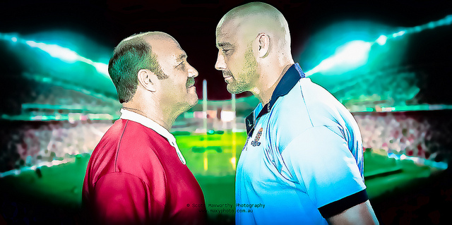 Wally Lewis vs Mark Geyer - Photo by Scott Maxworthy - CC-BY-NC-ND-2.0