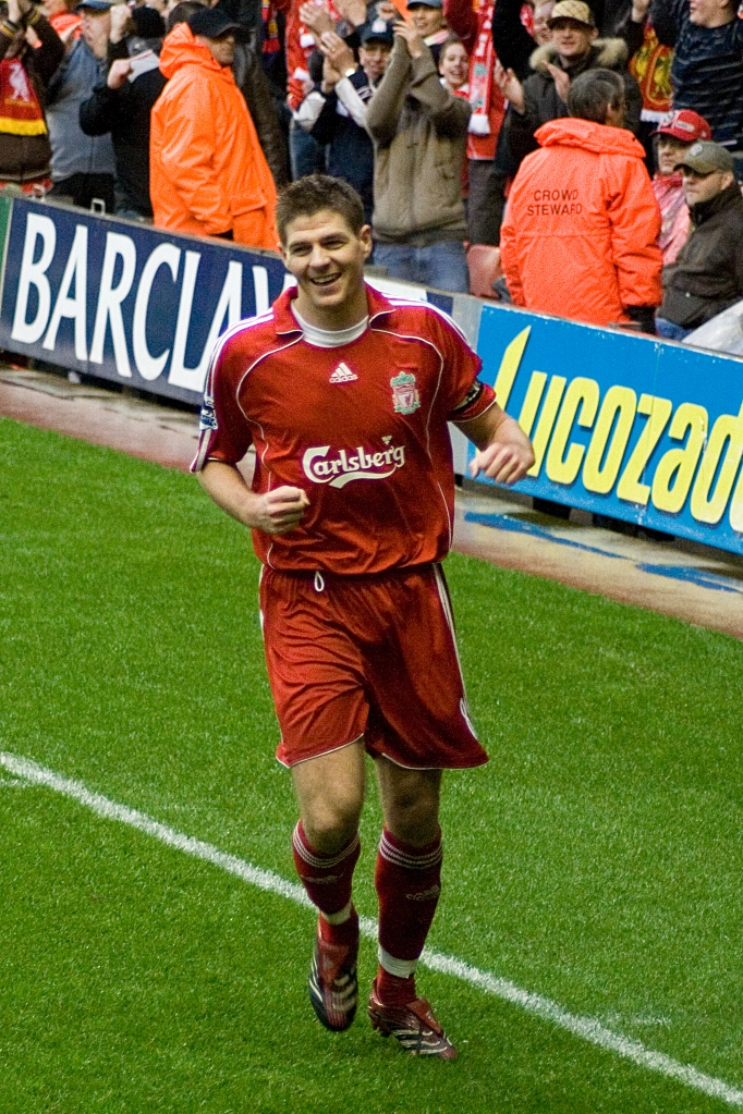 Steven Gerrard - Photo by Nigel Wilson - CC-BY-SA-2.0