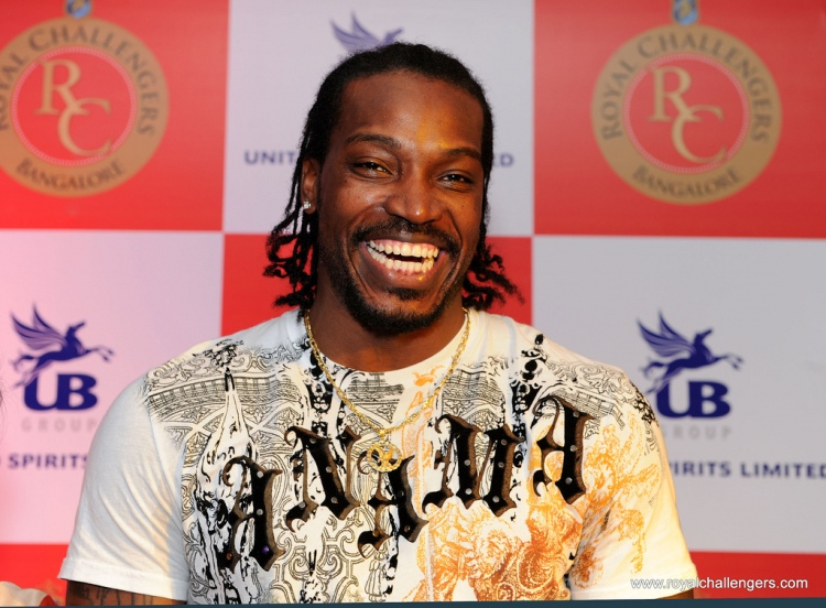 Chris Gayle - Photo by Royal Challengers Bangalore - CC-BY-NC-SA-2.0