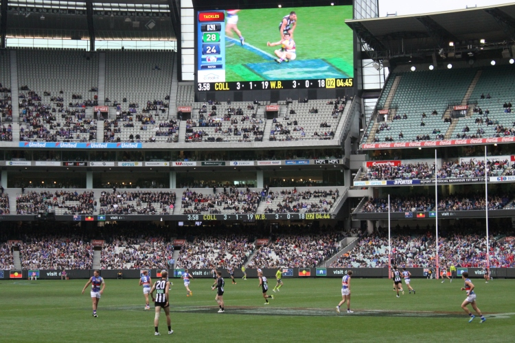 Collingwood vs Western Bulldogs - Photo by Mrs TGOS